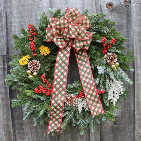 Double-sided wreaths