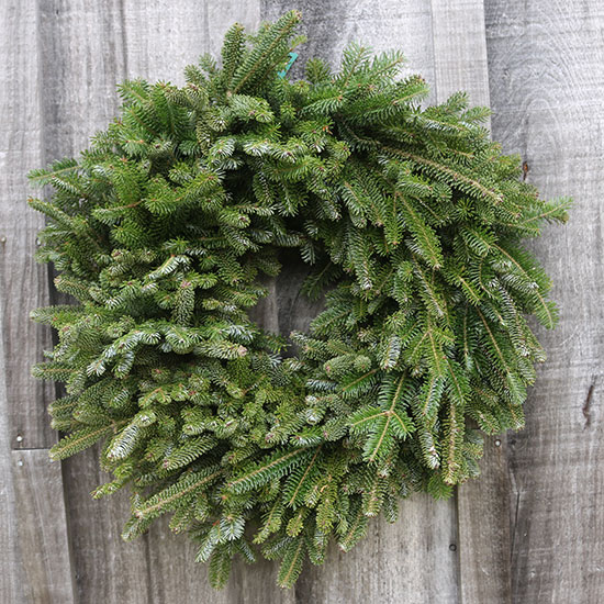 Plain wreaths with only greens