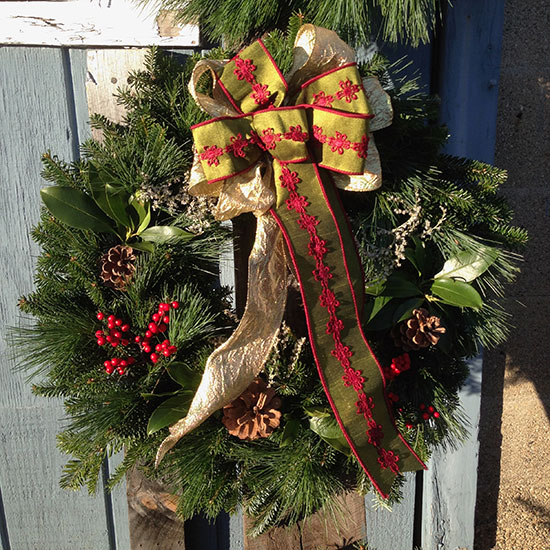 Wreaths with bows