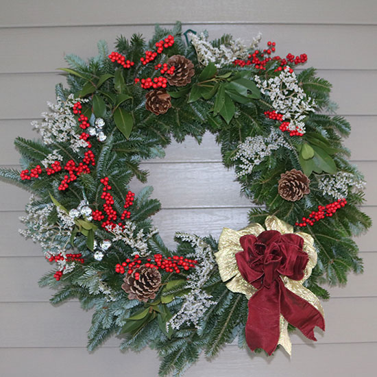 Wreaths with laurel
